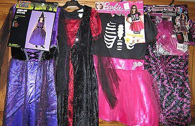 5 Girl Halloween Costumes (Halloween Costume Girl's Kids size M/Medium Barbie Monster High 5-7 yrs  )
