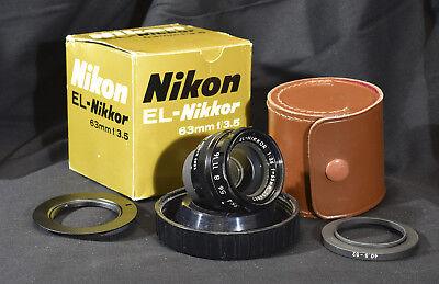MINT Nikon EL-Nikkor 63mm lens ready for UV photography - the best UV (Best Lens Filters For Nikon)