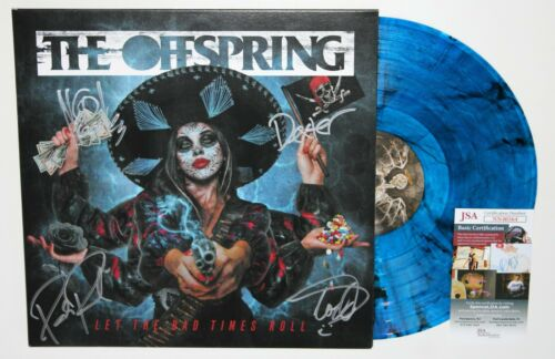 THE OFFSPRING SIGNED LET THE BAD TIMES ROLL LP VINYL RECORD ALBUM AUTO +JSA COA