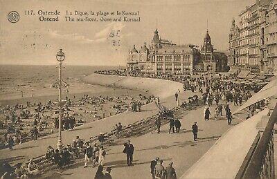 CPA - Belgique - Oostende - Ostende - La digue, la plage et le Kursaal