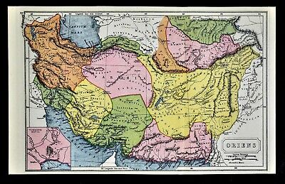 1908 Classical Map - Oriens - Middle East Media Parthia Persis Iran Afghanistan