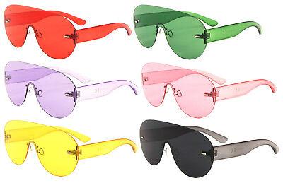 ASPEN RIMLESS OVERSIZED SHIELD MONO LENS FUTURISTIC SUNGLASSES GOGGLES ONE (Futuristic Goggles)