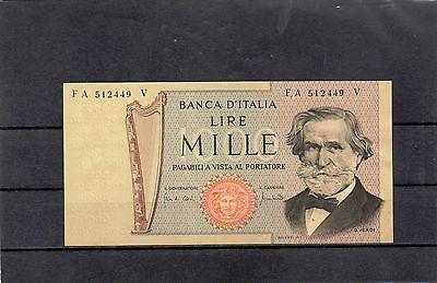 ITALY Europe 1000 Lire 1969 aUNC+ p-101a