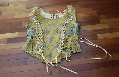 Von Lancelot Corset Sz 18 XL OOAK Costume Halloween Cosplay Rare Medieval Ren