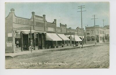 Postcard - Oakesdale, WA - Street Scene Dirt Road - East Side of First St - 1of2