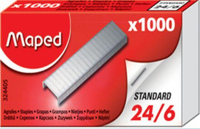 1000 - 50.000 MAPED Heftklammern Gr. 24/6 Tacker-Klammern Tacker-Nadeln