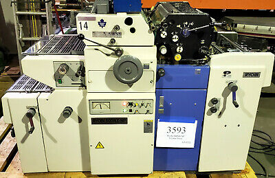 Ryobi 500nx-np Offset Printing Press T-51 2nd Color Head Numbering Xperf - 3593