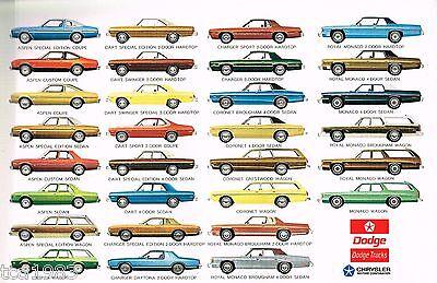 1976 DODGE Full Line Brochure:CORONET,CHARGER,DART,MONACO,ASPEN,Daytona,Van,
