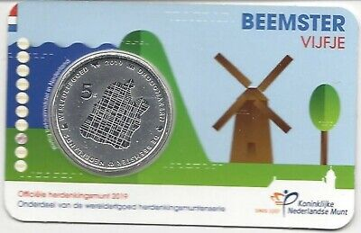 Nederland-pays-bas Coincard 5 euro 2019***Beemster vijfje***