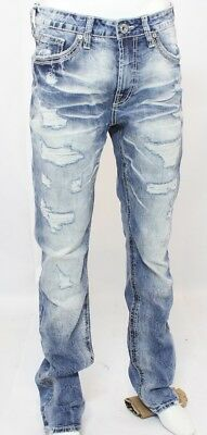 Men's Denim Jeans-SALVAGE HAVOC STRAIGHT - Slim Fit - Stretch - Size 28S (28x30)