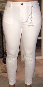 Bianco Women's Jeans White Skinny Distressed NWT Size 30