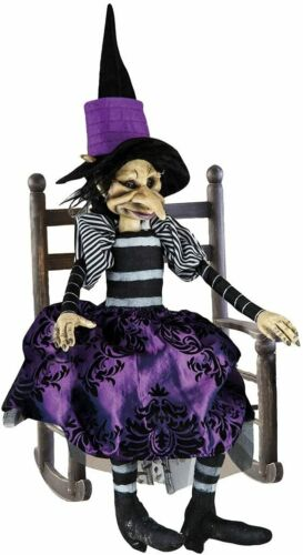 """Collectible Witch Doll ROSEMARY Hand Painted Detailed Face 29.5"""" Tall"""