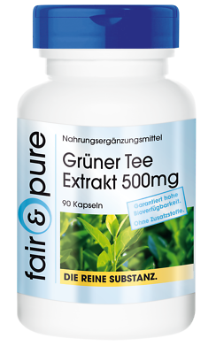 Grüner Tee Extrakt 500mg, fair &pure