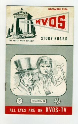 KVOS TV  STORY BOARD Dec 1956 BOOKLET Bellingham Washington Vancouver Programs