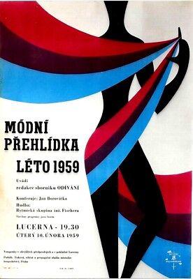 Original vintage poster CZECH FASHION SHOW LETO 1959