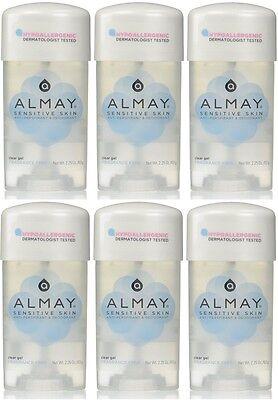 Almay Clear Deodorant Anti-perspirant (6 Pack Almay Anti-Perspirant - Deodorant Fragrance Free Clear Gel 2.25 oz)