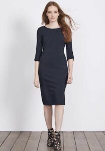 BODEN New Jessie Jersey Dress - Navy - UK 10 R - Winter 2017
