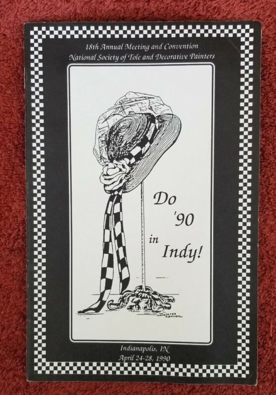 National Society of Tole and Decorative Painters 1990 indianapolis Brochure