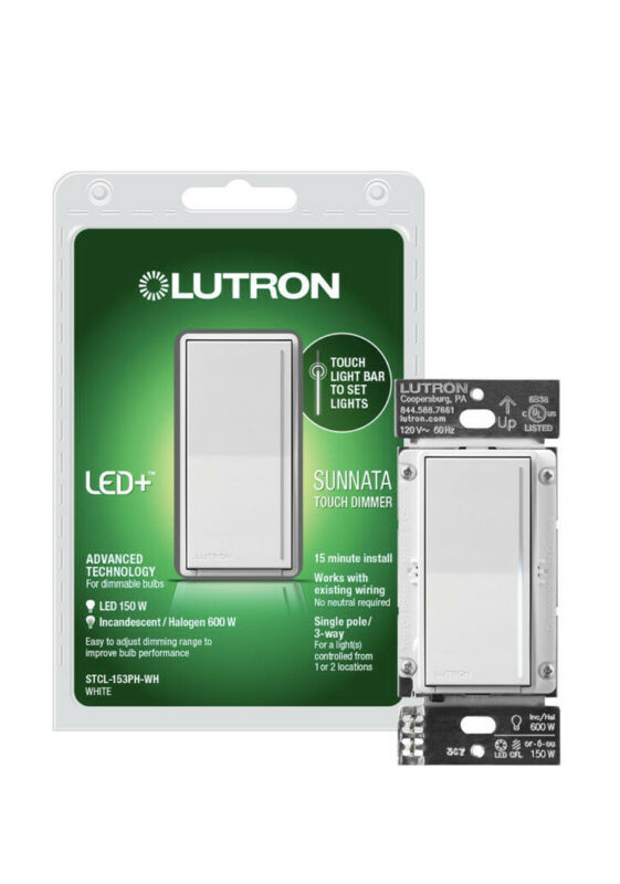 LUTRON Sunnata Touch Dimmer with LED+