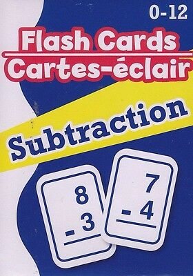 NEW Math Flash Cards (52 cards) ~ Subtraction   FREE SHIPPING