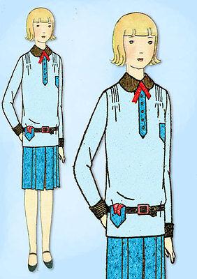 1920s Jahre Vtg Butterick Nähmuster 2155 Uncut Kleine Mädchen Flapper Kleid Sz