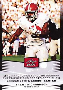 TRENT-RICHARDSON-2012-Leaf-Draft-RC-ROOKIE-PROMO-Card-ALABAMA-5-CARD-LOT