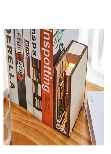 Japanese style home building model book nook insertion