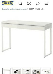 White High Gloss Modern Desk