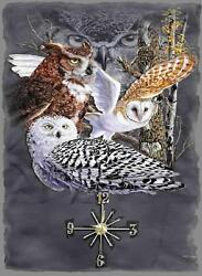 Owls 2  Wall Clock  Makes Great Gifts