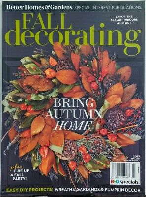 Better Homes & Gardens Fall Decorating 2017 Bring Autumn Home FREE SHIPPING sb