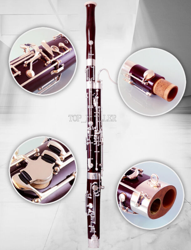 Customized Pro Maple Bassoon Heckel system C Keys Silver Plated New/Case