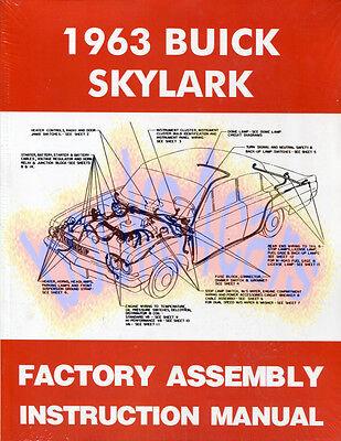 Buick Skylark Restoration Parts (MANUAL 1963 PARTS ASSEMBLY BUICK SPECIAL SKYLARK RESTORATION BOOK )