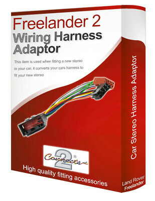 Land Rover Freelander 2 radio stereo wiring harness adapter lead loom converter