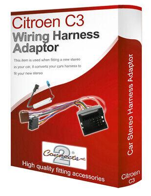 Citroen C3 Radio CD Estéreo Cableado Cable Adaptador Iso Convertidor