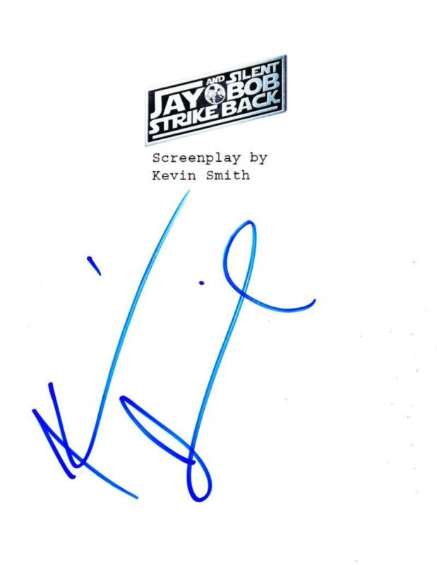 KEVIN SMITH SIGNED JAY AND SILENT BOB STRIKE BACK FULL SCRIPT AUTOGRAPH COA