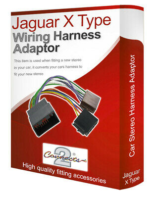 Jaguar X-Type radio stereo wiring harness adapter lead loom ISO converter