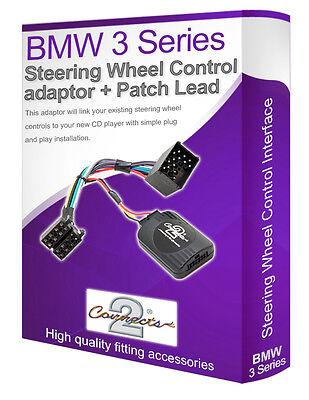 BMW 3 series E46 car stereo steering wheel adpater lead + Patch lead