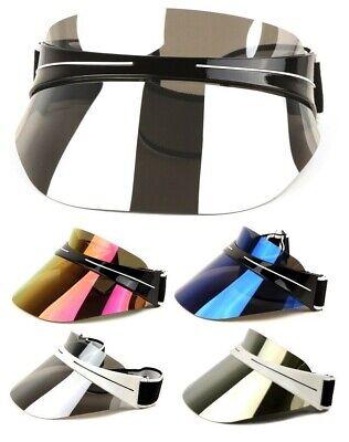 OVERSIZED XL SHIELD WRAP AROUND HEADBAND VISOR SUNGLASSES RETRO DESIGNER - Headband Sunglasses