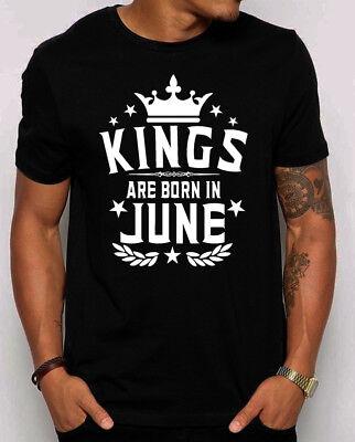 Kings Are Born in June Men's T-shirt. gift for him. Best Birthday shirt.