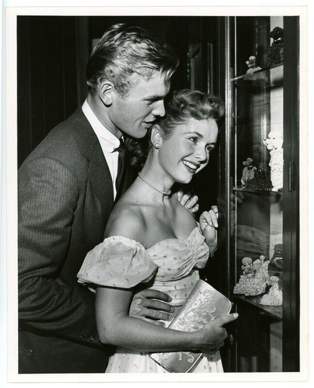TAB HUNTER, DEBBIE REYNOLDS original candid photo 1950s