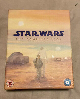 Star Wars - The Complete Saga (Blu-ray, 2011, 9-Disc Set, Box Set) FREE P&P