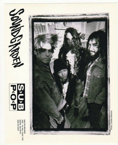 Soundgarden early circa 1980s Promo Photo by Charles Peterson b&w 8x10 Print