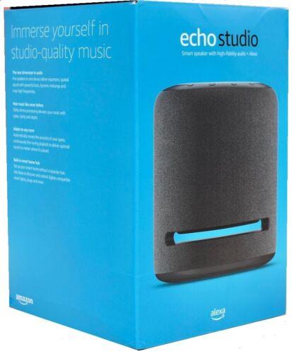 Echo Studio High-fidelity smart speaker w/ Dolby Atmos and Alexa - Charcoal