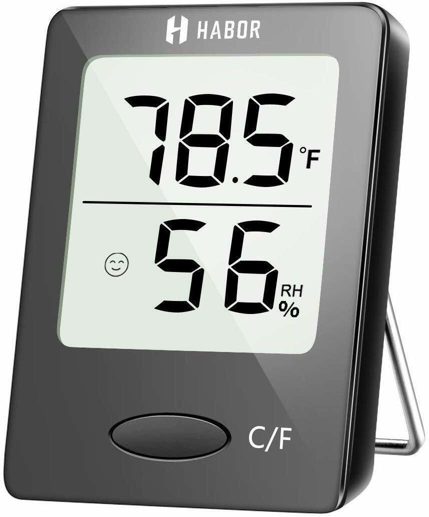 Habor Digital Hygrometer Indoor Thermometer, Humidity Gauge