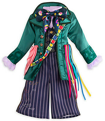 Alice In Wonderland Costume Children (Disney Store Alice in Wonderland MAD HATTER Boy Girl Halloween Costume -Kids)