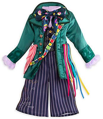 Disney Store Alice In Wonderland Mad Hatter Halloween Costume Set   7 8 Or 9 10