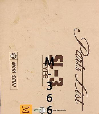 Mori Seiki Sl-3 Lathe Parts Manual