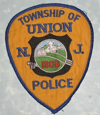 """Union Township Police Patch - New Jersey -    4"""" x 4 7/8"""""""