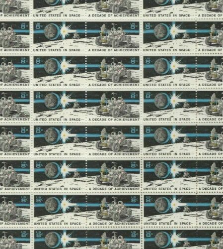 #1434-35 8 cent Space Achievement full mint sheet of 50 MNH OG