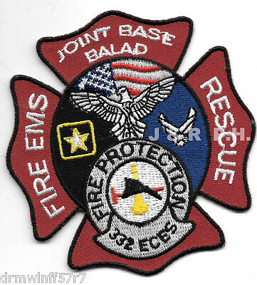 """Iraq -Joint Base Balad  Fire - Rescue  332 ECES   (3.25"""" x 3.5"""" size) fire patch"""